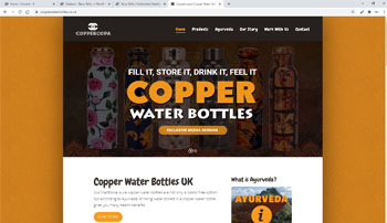 Recent projects. Copper Water Bottles website